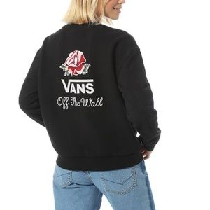 Vans Off The Wall Embroidered Rose Sweatshirt XS